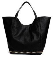 Asos Shopper Bag with Chain Trim. $56.46 http://us.asos.com/ASOS/ASOS-Shopper-Bag-With-Chain-Trim/Prod/pgeproduct.aspx?iid=3657429&cid=8730&sh=0&pge=0&pgesize=204&sort=-1&clr=Black