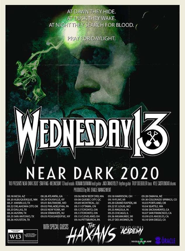 "WEDNESDAY 13'S ""NEAR DARK TOUR"""