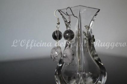 Orecchini in quarzo e filo placcato in argento