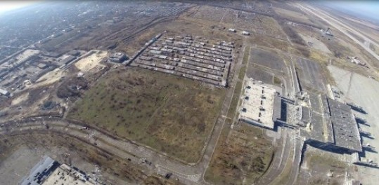 Aerial image of the Donetsk International Airport. SOS Army photo, end of October.