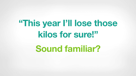 this year i'll lose those kilos for sure sounds familiar