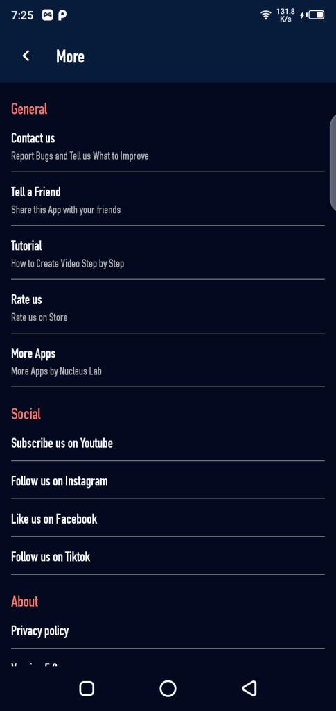 Screenshot of Lovi Mod App