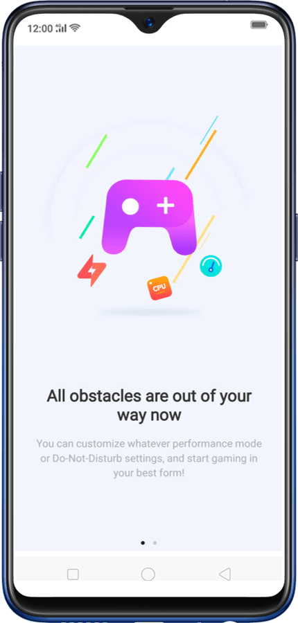 Screenshot of Realme Game Space