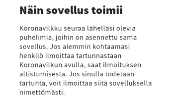Screenshot of Koronavilkku Apk