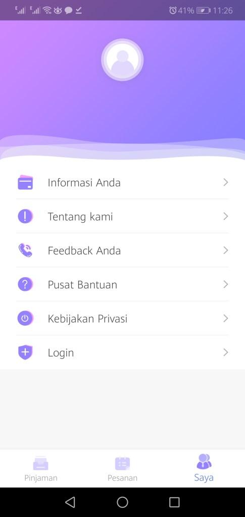 Screenshot of AMPLOP Merah App