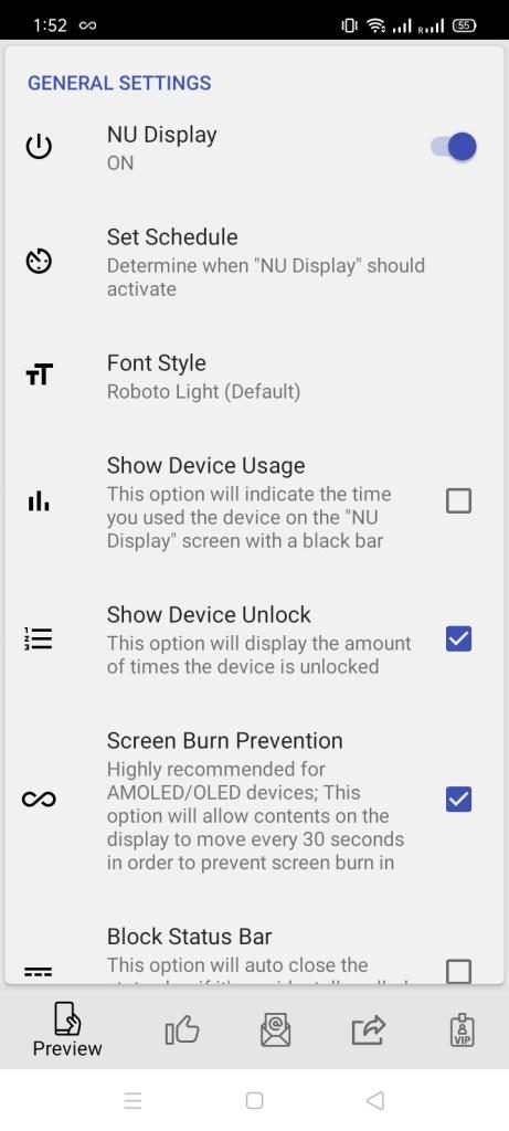 Screenshot of NU Display Pro App Apk