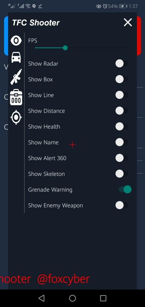 Screenshot of TFC Shooter App