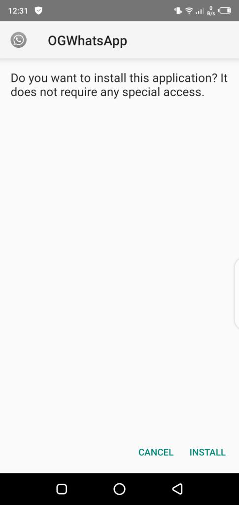 Screenshot of SP WhatsApp