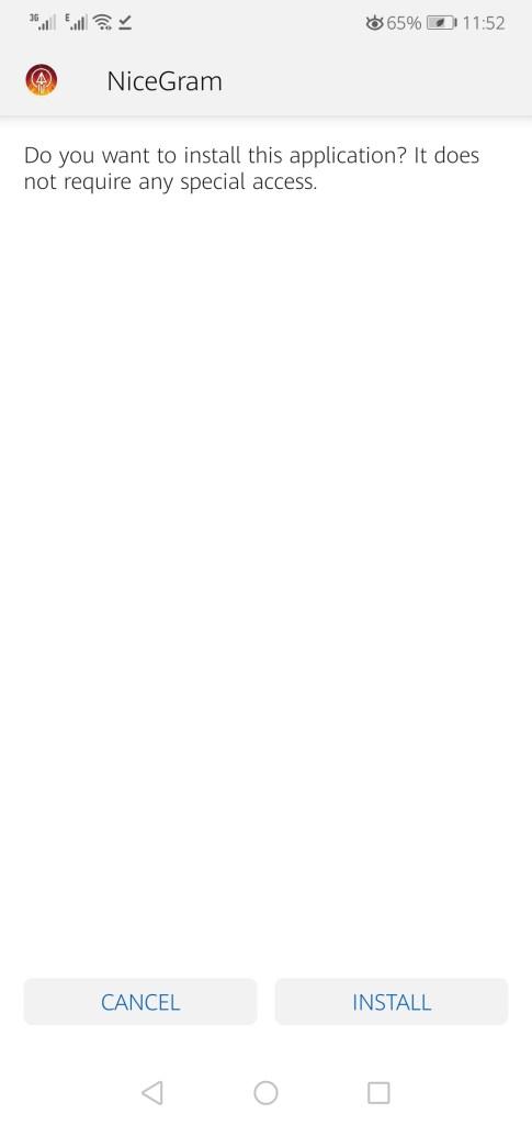 Sceenshot of Nicegram