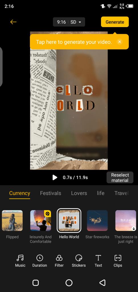 Screenshot of Soloop App