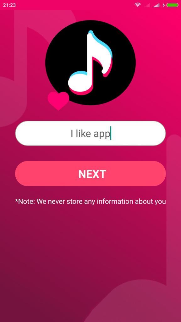 Screenshot of Tok Liker App Apk