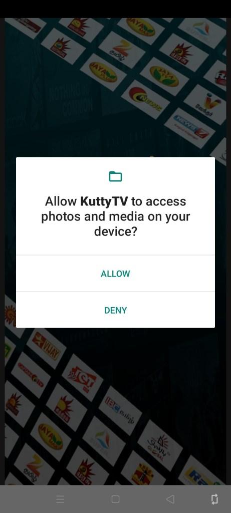Sceeenshot of Kutty TV Apk