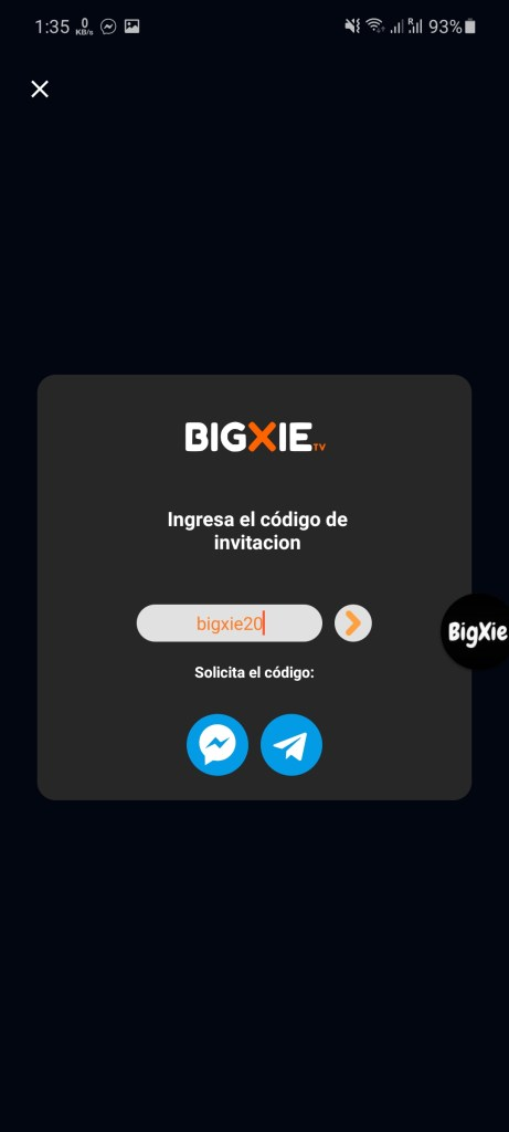 Screenshot of Bigxie Pro App