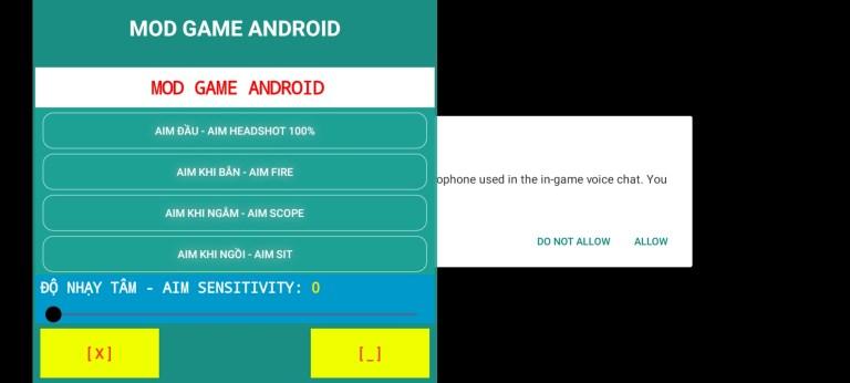 Screenshot of MGA v12 App