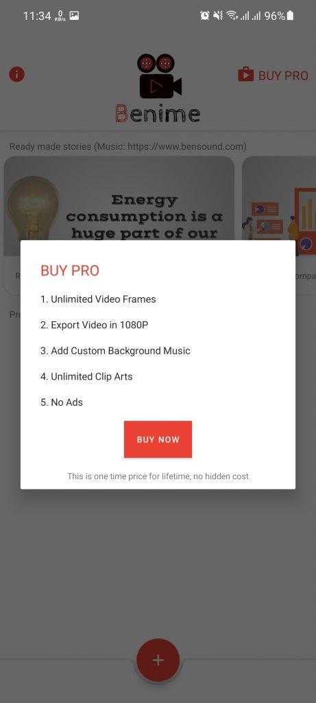 Screenshot of Benime App Apk