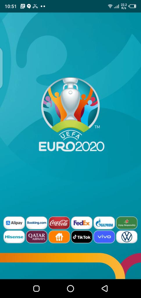 Screenshot of Euro 2020