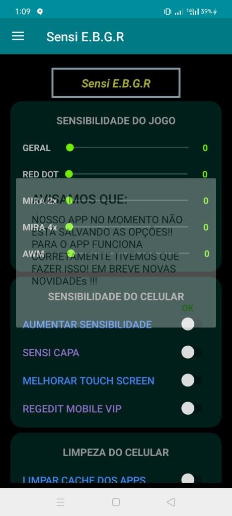 Screenshot of Sensi E.B.G.R App