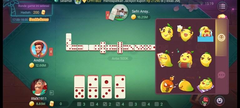 Screenshot of Top Bos Domino Higgs RP App