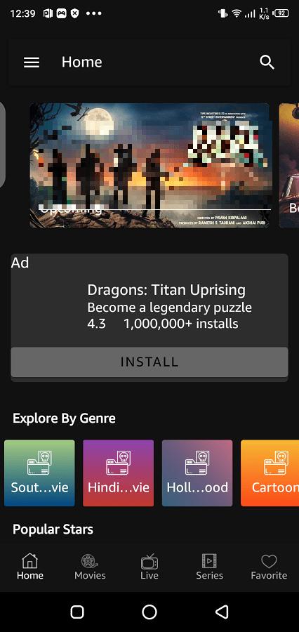 Screenshot of MR TV App Apk