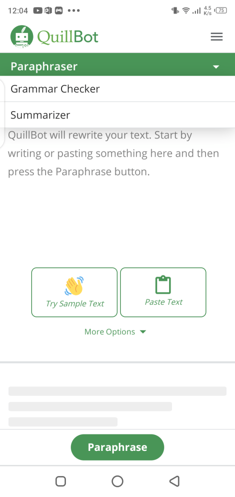 Screenshot of Quillbot Apk