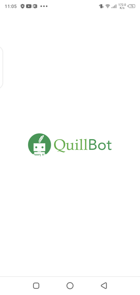 Screenshot of Quillbot