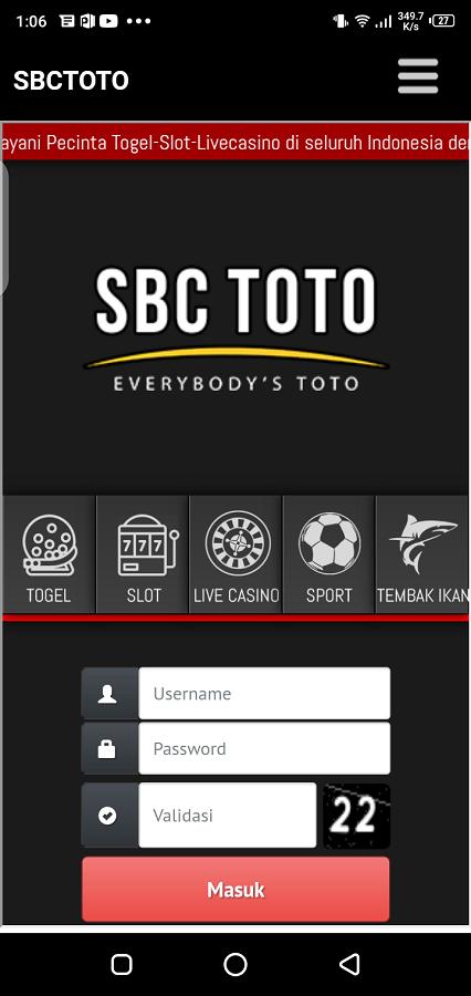 Screenshotof SBC Toto Apk
