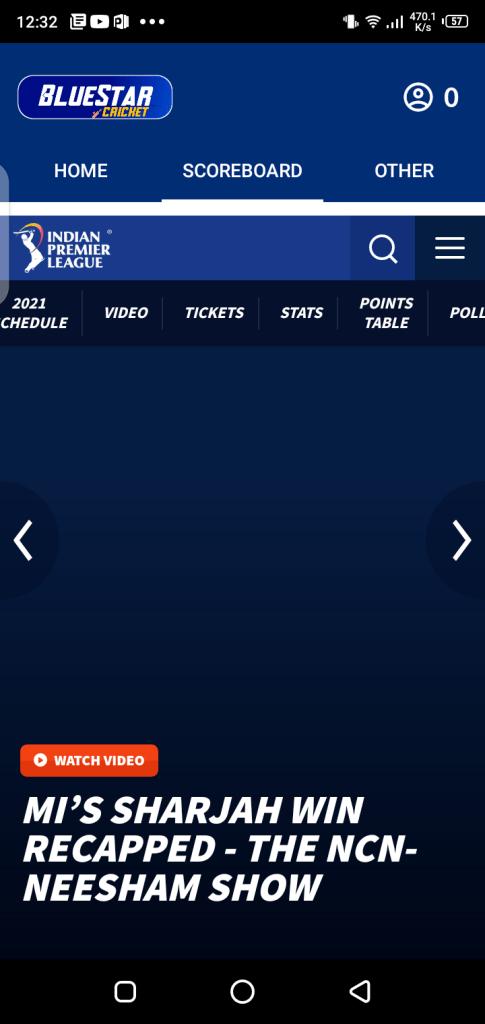 Screenshot of Blue Star Cricket