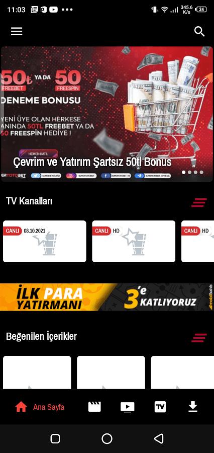 Screenshot of REC TV