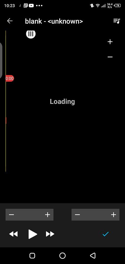 Screenshot of Reproductor MP3 App