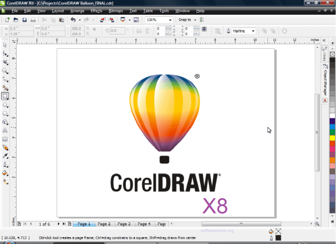 CorelDRAW Graphics Suite X8 logo editing