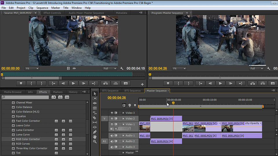 Adobe Premiere Pro CS6 hollywood movie editing