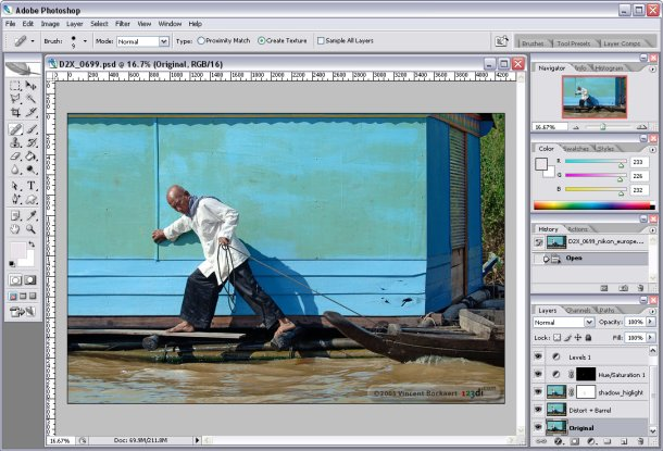 adobe photoshop cs2 man editing