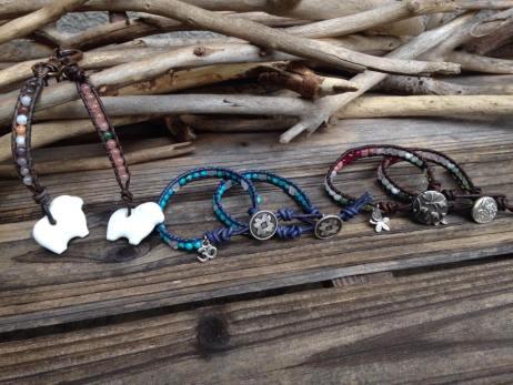 Leather Wrap Bracelets 1