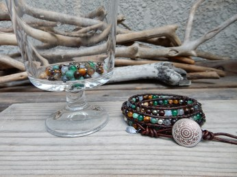 Falling Leaves 4-wrap Bracelet