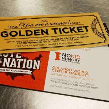 Taste of the Nation Golden Ticket