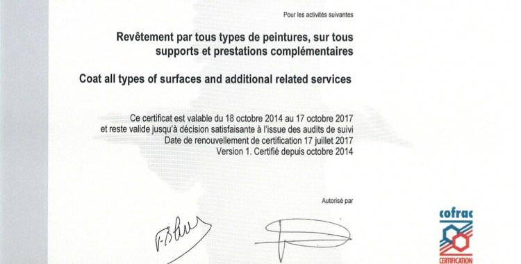Certification Qualité SGS