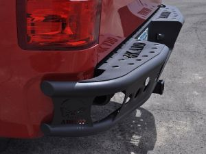 "2007.5 - 2013 GMC Sierra 1500 Dimple ""R"" rear bumper set up for duallys in hammer black"