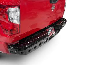 """Nissan Titan Venom """"R"""" Rear Bumper with Dually light mounts with back up sensor cut outs in Hammer Black with Satin Black panels"""