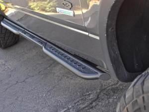 2010 - 2014 Ford Raptor / 2009 - 2014 Ford F-150 / 2011 - 2014 Ford Ecoboost F-150 Venom Side Steps Super Cab (2 door) with LED strip mount in Hammer Black