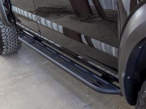 Ford Raptor/Ford F-150 ADD Lite side steps in Hammer Black