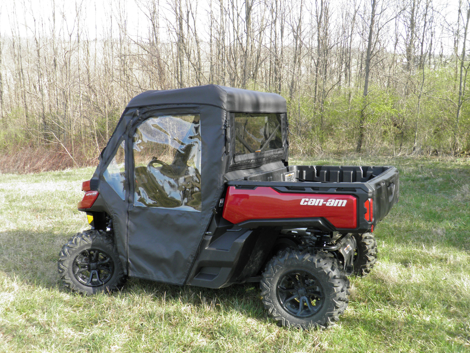 Can-Am Defender Soft Doors Rear Window and Top Combo & Can-Am Defender soft back panel. Can-Am Defender soft doors and rear ...