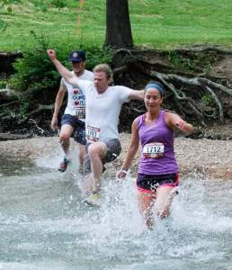 Nothing beats a creek crossing at the end of an 85 degree run.