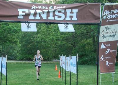 Women's winner Claire Beckmeyer wins her second straight Spring Trail Run Series Race
