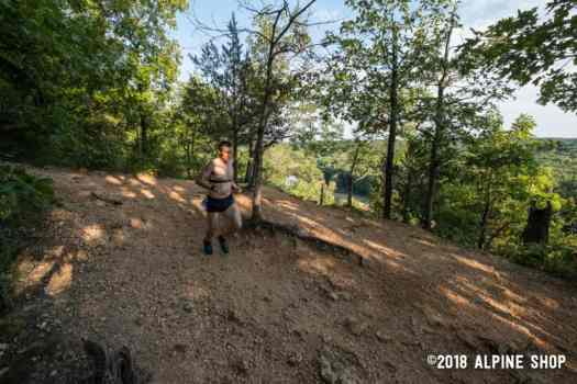 Benjamin Hudson running in Trail Run Series