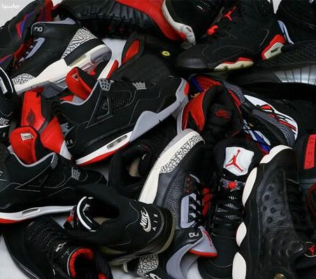Pile of Retro Jordans