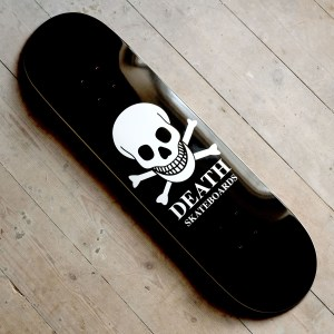 Death Skateboards 8 25 Black Skull Main