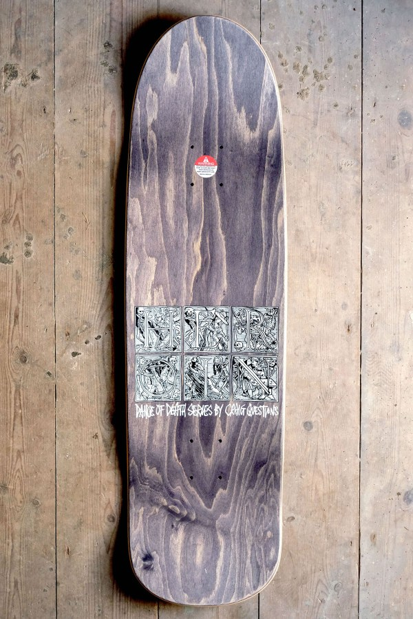 Heroin Skateboards Dance of Death Craig Questions Top