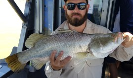 Saltwater Barra caught with Offshore Boats