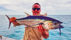 Longtail with Offshore Boats bluewater fishing charters
