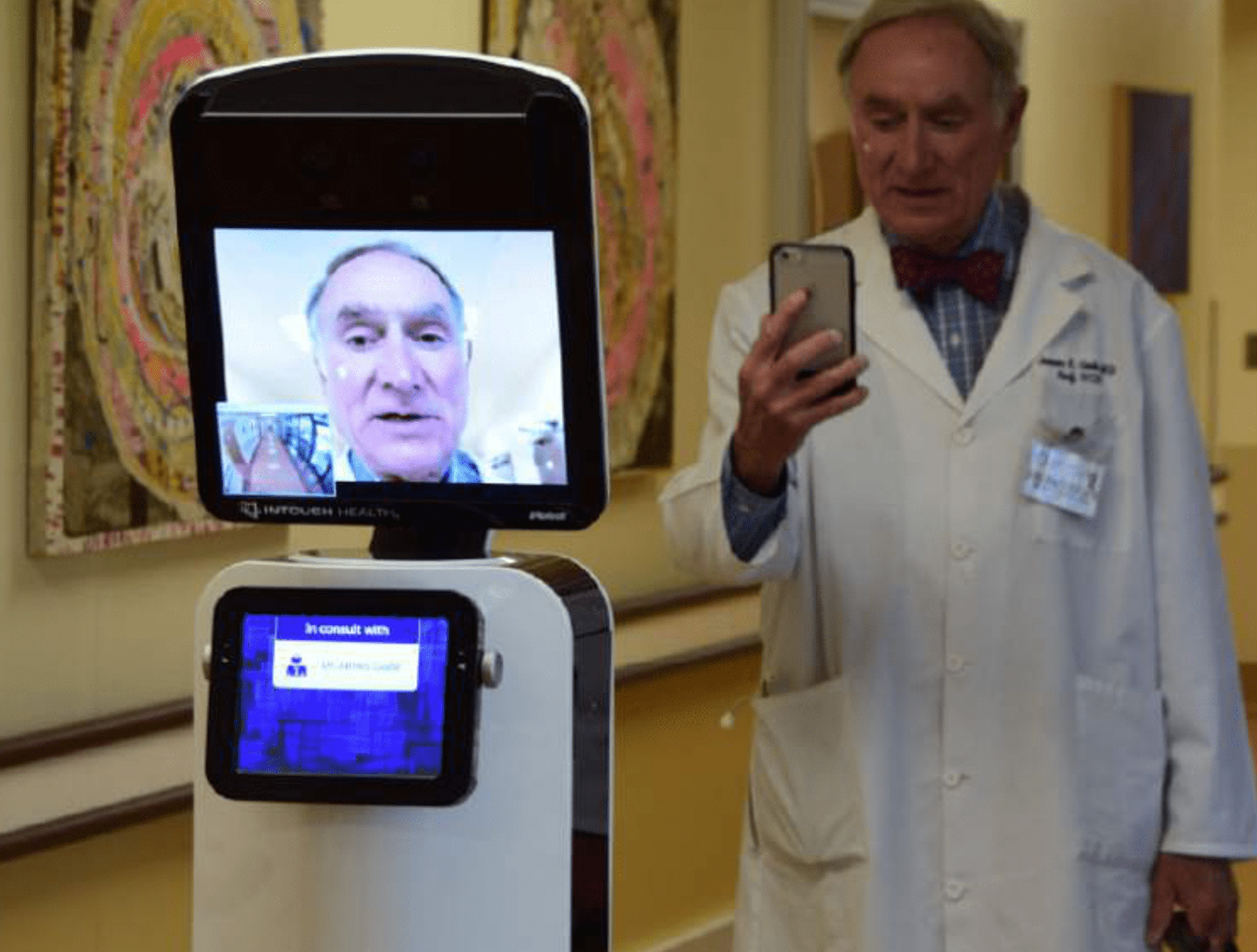 Dr. Jim Gude and Robot